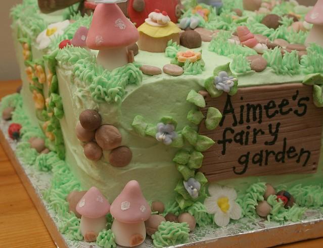 Aimee 39 s fairy garden cake flickr photo sharing for Fairy garden birthday cake designs