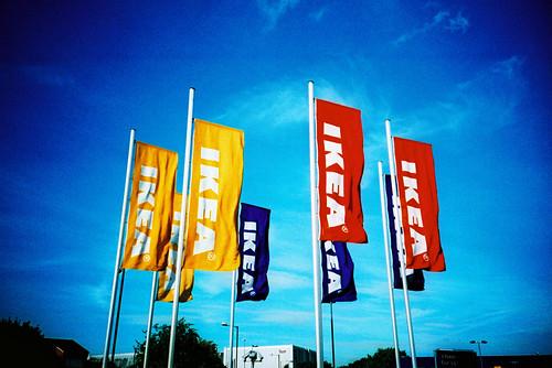 Ikea Flags / Kodak E100G xpro - 無料写真検索fotoq