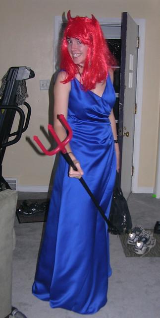 Devil Blue Dress Costume