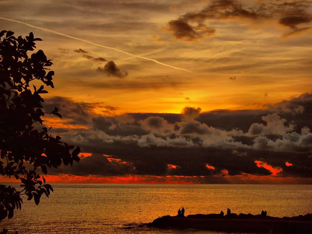 Fired sunset