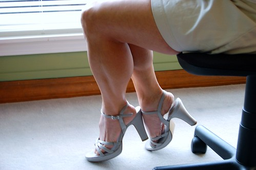 very strong calves in high heels