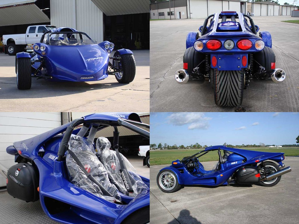 Motorcycle campagna t rex blue