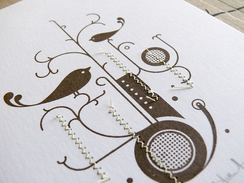 Chocolate Bird Stitched Gocco