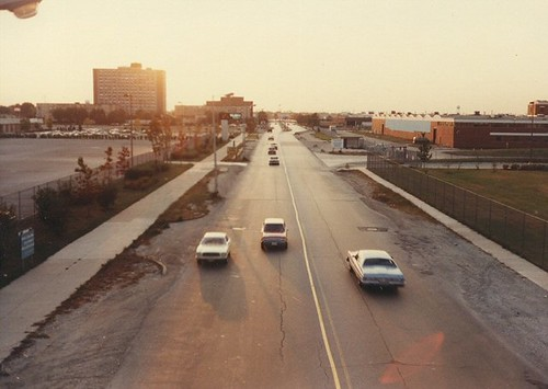 View looking west from the Daley College pedestrian overpass. Chicago Illinois. Late September 1982. by Eddie from Chicago