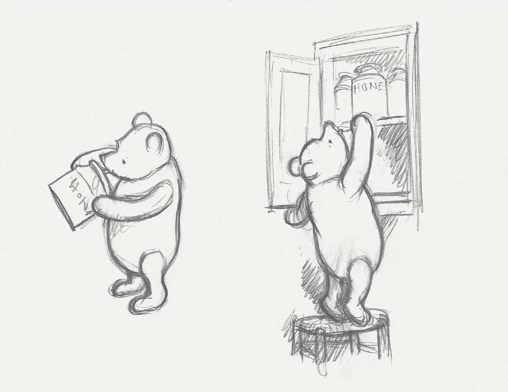 Classic winnie the pooh sketch