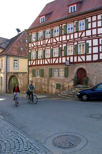 Biking through Creglingen