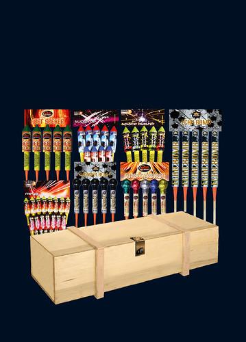 epic fireworks - professional rocket box 2