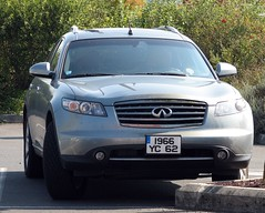 infiniti qx70(0.0), sedan(0.0), automobile(1.0), automotive exterior(1.0), sport utility vehicle(1.0), wheel(1.0), vehicle(1.0), automotive design(1.0), mid-size car(1.0), crossover suv(1.0), bumper(1.0), infiniti(1.0), land vehicle(1.0), vehicle registration plate(1.0),