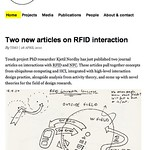 Two new articles on RFID interaction