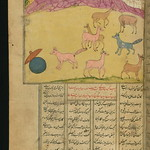 Illuminated Manuscript, Collection of poems (masnavi), A boastful jackal, Walters Art Museum Ms. W.626, fol. 110a