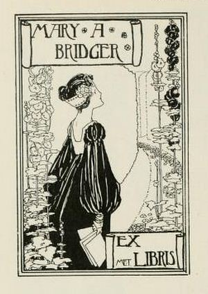 Bookplate of Mary A Bridger