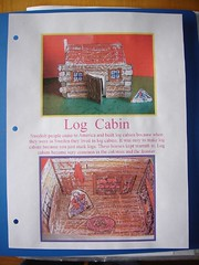 log cabin notebooking page