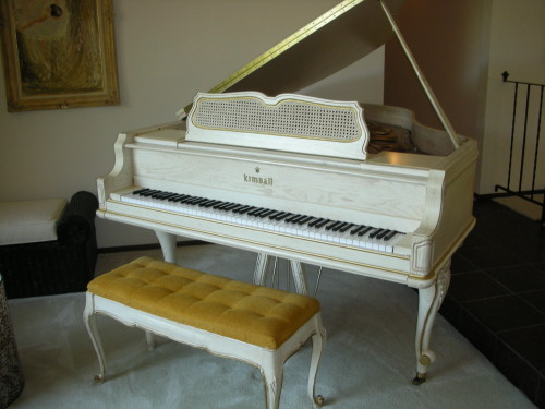 Kimball white oak baby grand piano flickr photo sharing for Smallest baby grand piano dimensions