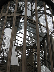 Staircase on the Eiffel Tower