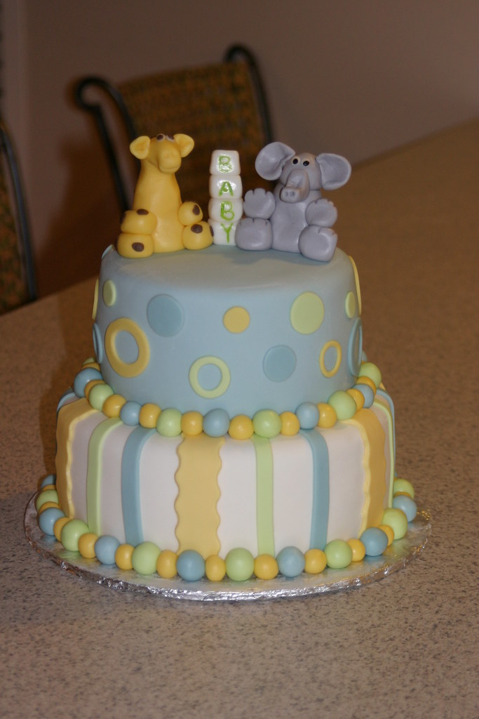 Zoo Baby Animal Baby Shower Cake