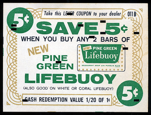 Pine Green Lifebuoy Soap, 1950's