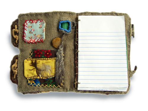 Un diario hecho con una bonita funda hecha a mano (primera página)