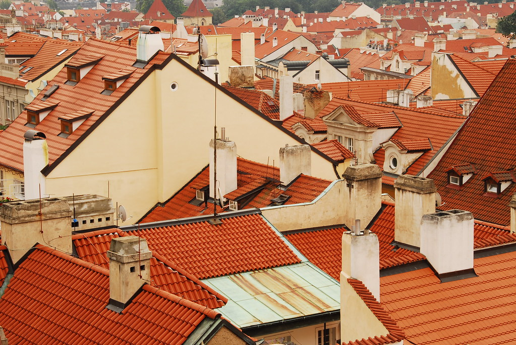 terra cotta colored roofs