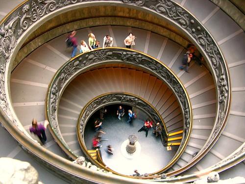 Escalera del Museo del Vaticano, Roma