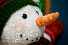 stuffed toy, snowman, toy,