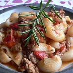 Red pepper and rosemary lamb with pasta