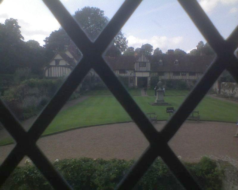 View through a window Inside Ightham Mote: Open Heritage Day Sevenoaks Circular