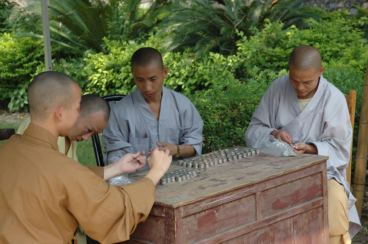 Monks Counting Profit!