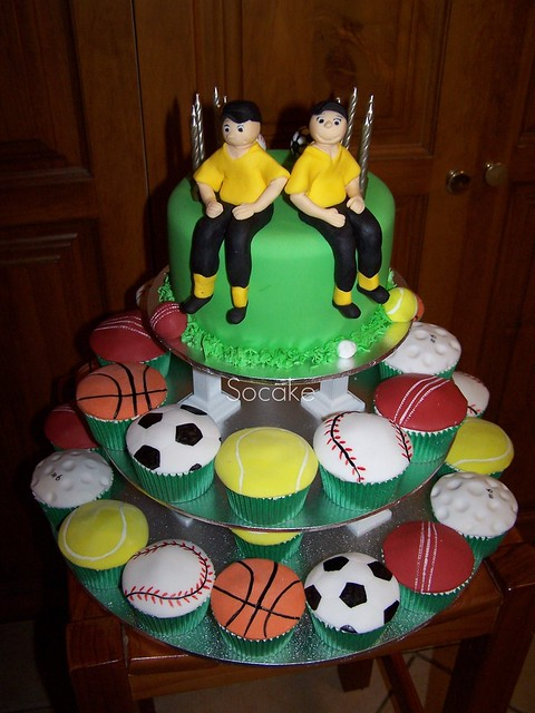Sports Cake For Josh And Connor Flickr Photo Sharing