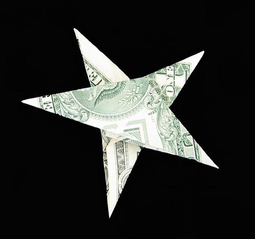 Dollar Bill Origami: Money Origami Christmas Star - photo#8
