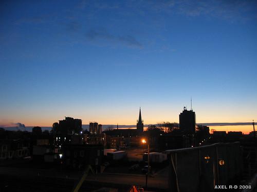 bridge canada skyline sunrise dawn twilight downtown québec centreville leverdesoleil troisrivières