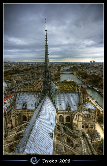 Notre Dame, View over the Seine, Paris, France :: HDR