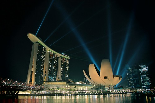 MBS & ArtScience Museum Lighted Up
