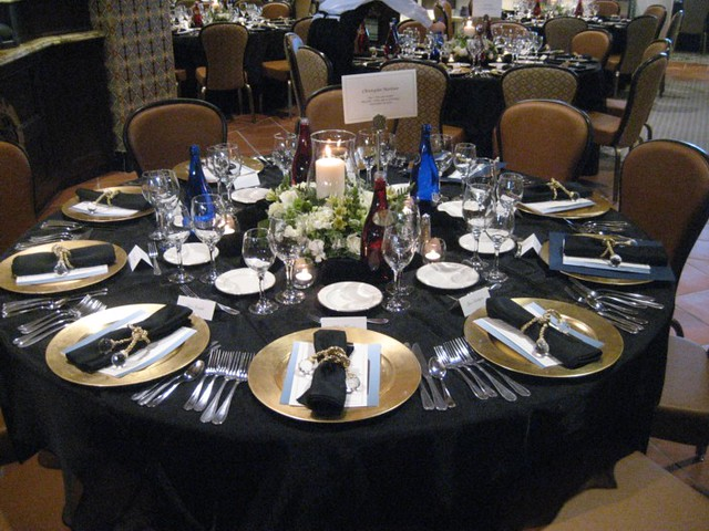 black-table-settings-wedding-reception & table settings - a gallery on Flickr