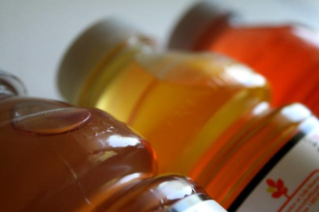 bottled liquids color technology