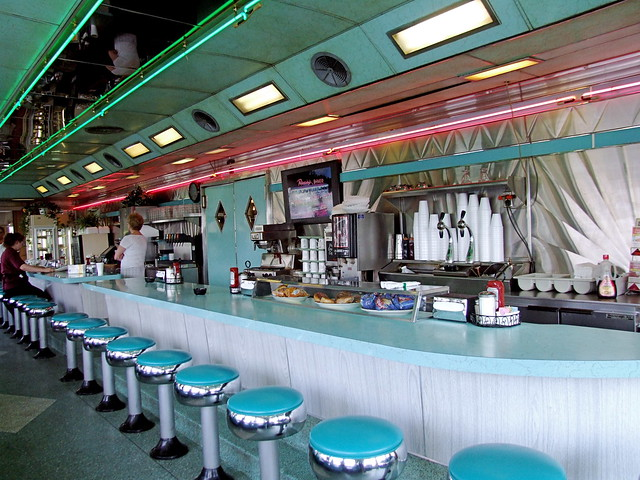 Airport diner interior u s 222 kuntztown pa a photo for Diner interior