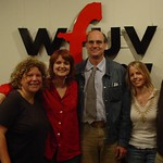 James Taylor with WFUV staff