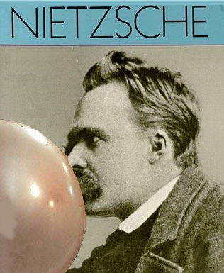 Nietzsche blowing bubbles