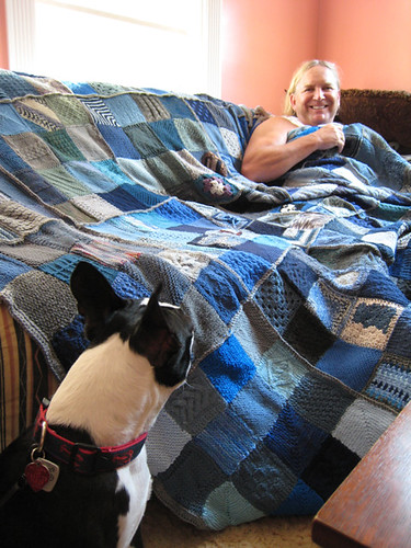 Thom with his Ravelry blanket!
