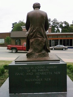 Looking East at The Lincoln Monument of Wabash, Indiana by Charles Keck. Photo taken on August 2, 2008
