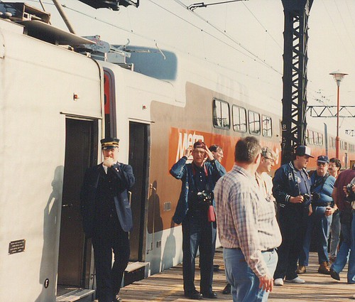 May 1990 Central Electric Railfans association Chartered fantrip on the Metra ( ex Illinois Central) electric commuter lines. Chicago Illinois. by Eddie from Chicago