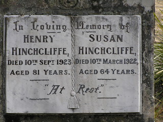 Hinchcliffe Headstone at Majors Creek, NSW