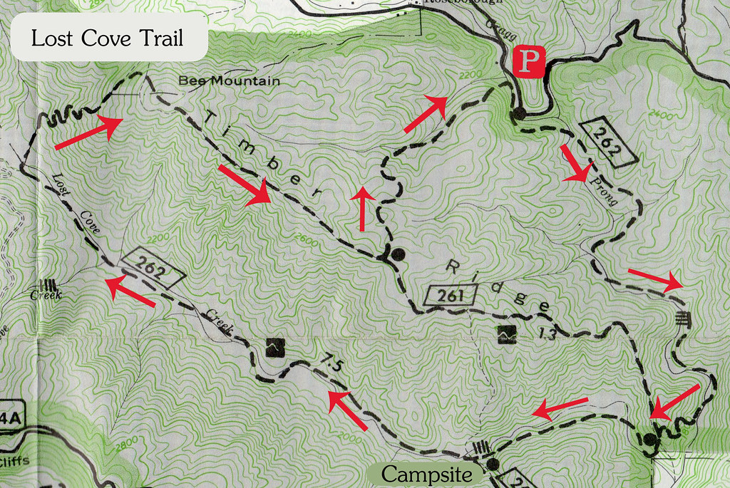Lost Cove Trail Map by Wayfaring Wanderer