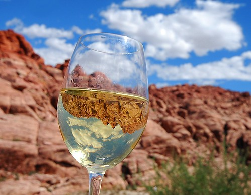 The Wine Glass Travels to Red Rock Canyon
