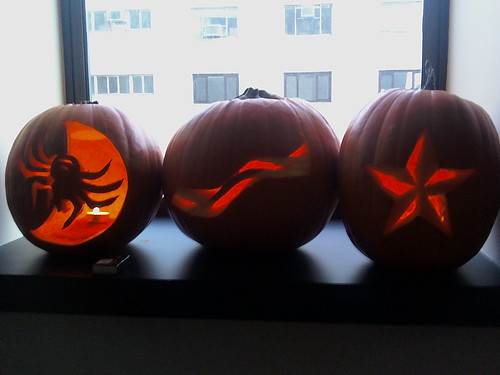 Pumpkin carving at work
