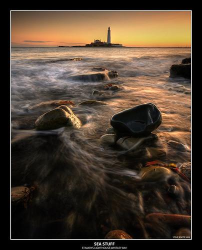 longexposure sea lighthouse seascape seaweed sunrise coast rocks north east northumbria coastline hdr stmarys whitleybay tynewear photomatix sigma1020 abigfave anawesomeshot theperfectphotographer samsunggx20
