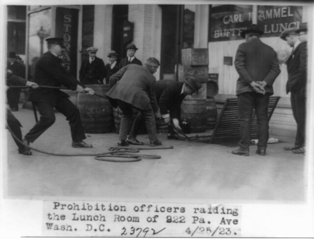 Prohibition officers raiding