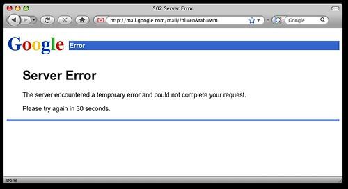 Google Server Error
