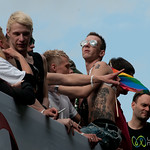 Riding Atop a Float at Christopher Street Day Parade - Berlin, Germany