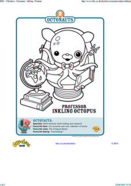 octonauts coloring pages bbc - photo#4