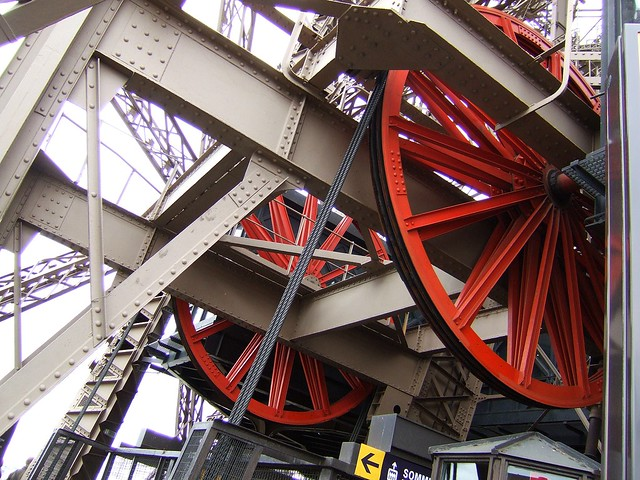 Eiffel Tower lift wheels